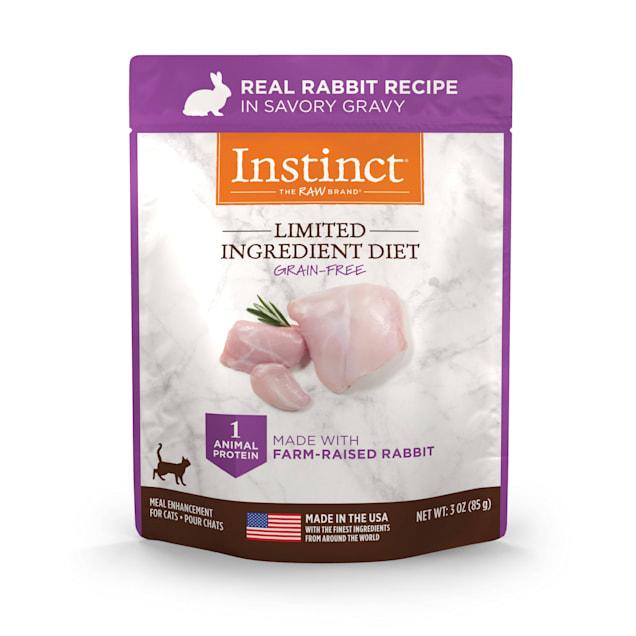Instinct Limited Ingredient Diet Grain-Free Cuts & Gravy Real Rabbit Recipe in Savory Gravy Wet Cat Food, 3 oz., Case of 24 - Carousel image #1