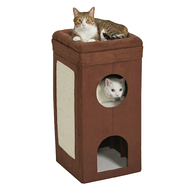 "Midwest Curious Suede Cat Condo, 3.39"" H - Carousel image #1"