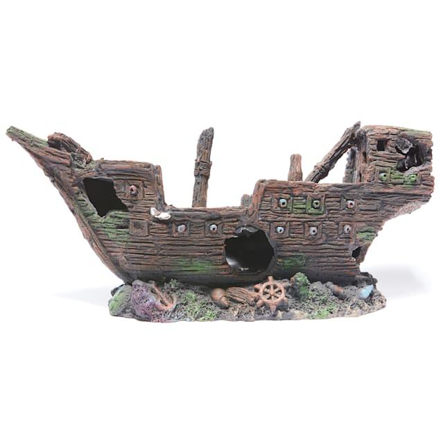 Aquarium aquatique Shipwreck bulleur Aquarium Ornament 26x12x13cm