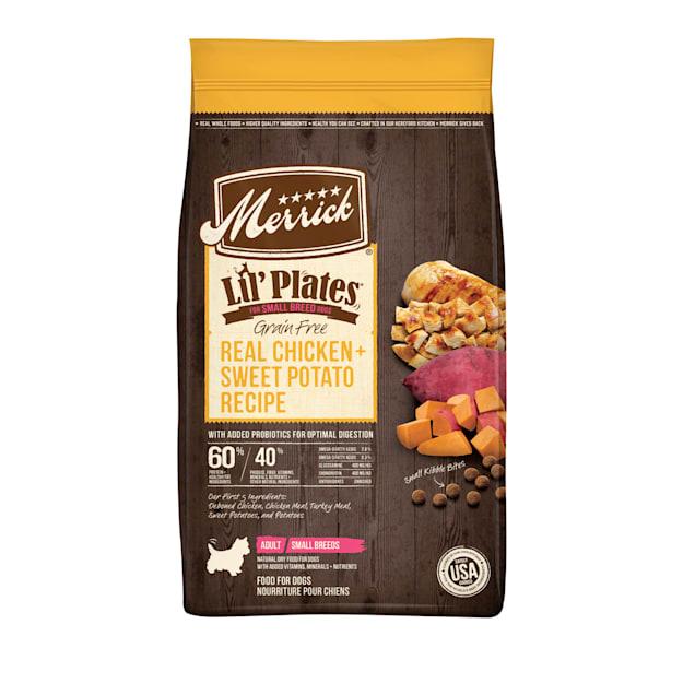Merrick Lil' Plates Grain Free Real Chicken + Sweet Potato Recipe Small Breed Dry Dog Food, 20 lbs. - Carousel image #1