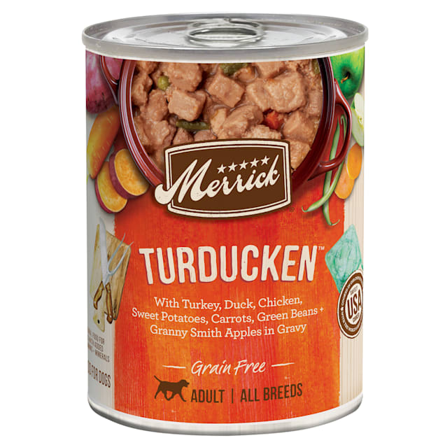 Merrick Grain Free Turducken Wet Dog Food, 12.7 oz., Case of 12 - Carousel image #1