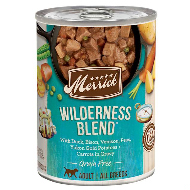 Merrick Grain Free Wilderness Blend Wet Dog Food, 12.7 oz., Case of 12 - Carousel image #1