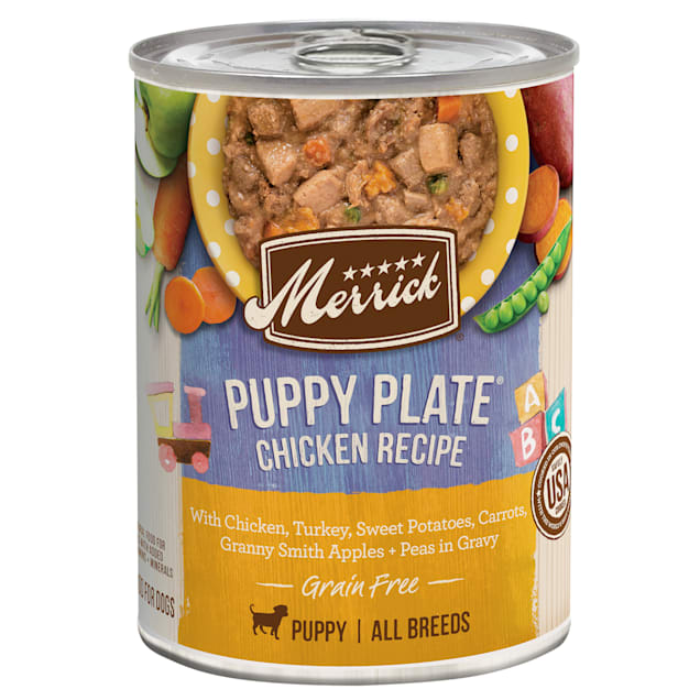 Merrick Grain Free Puppy Plate Wet Puppy Food, 12.7 oz., Case of 12 - Carousel image #1