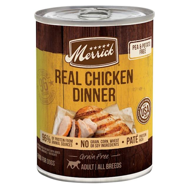 Merrick Grain Free Real Chicken Dinner Wet Dog Food, 12.7 oz., Case of 12 - Carousel image #1