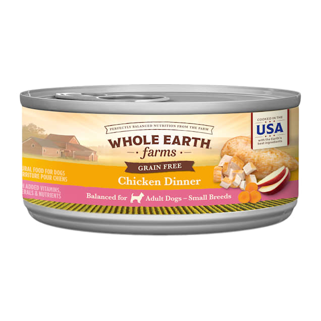 Whole Earth Farms Grain Free Small Breed Chicken Dinner Wet Dog Food, 3 oz., Case of 24 - Carousel image #1