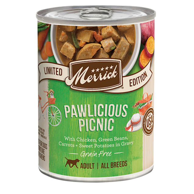 Merrick Grain Free Limited Edition Pawlicious Picnic Recipe Canned Adult Dog Food, 12.7 oz., Case of 12 - Carousel image #1
