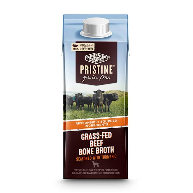 Castor & Pollux Pristine Grain Free Grass-Fed Beef Bone Broth Seasoned With Turmeric Meal Wet Dog Food, 8.4 oz. - Carousel image #1