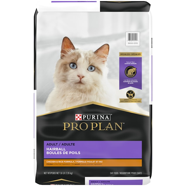 Purina Pro Plan Focus Hairball Management Chicken & Rice Formula Adult Dry Cat Food, 16 lbs. - Carousel image #1
