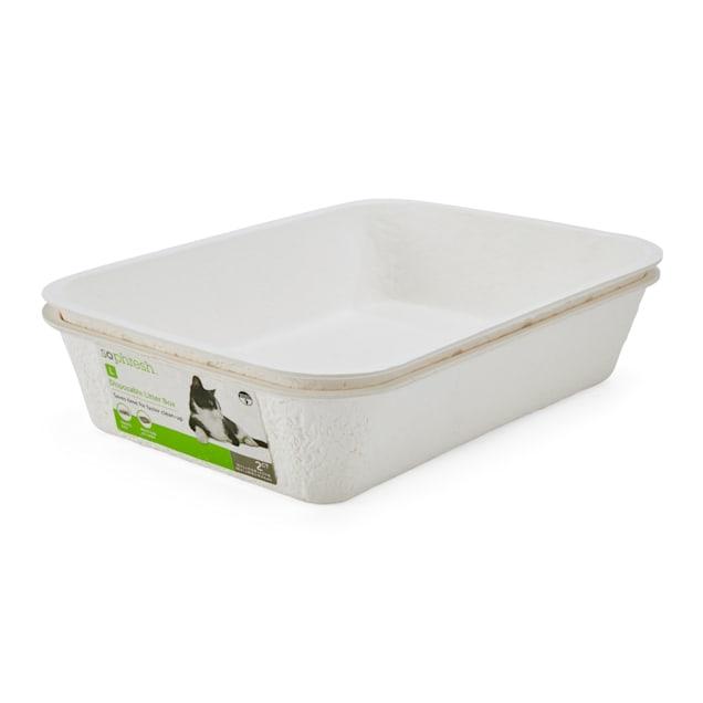 "So Phresh Disposable Litter Box Set, 16.7"" L X 12.6"" W X 4.3"" H - Carousel image #1"