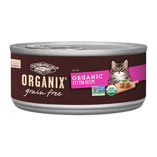 Castor & Pollux Organix Grain Free Healthy Wet Kitten Food, 5.5 oz., Case of 24 - Carousel image #1
