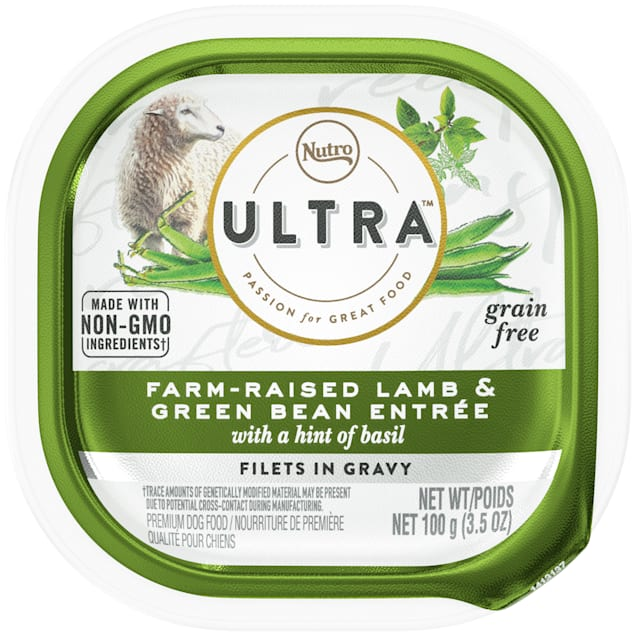 Nutro Ultra Grain Free Filets in Gravy Farm-Raised Lamb & Green Bean With Basil Adult Wet Dog Food, 3.5 oz., Case of 24 - Carousel image #1