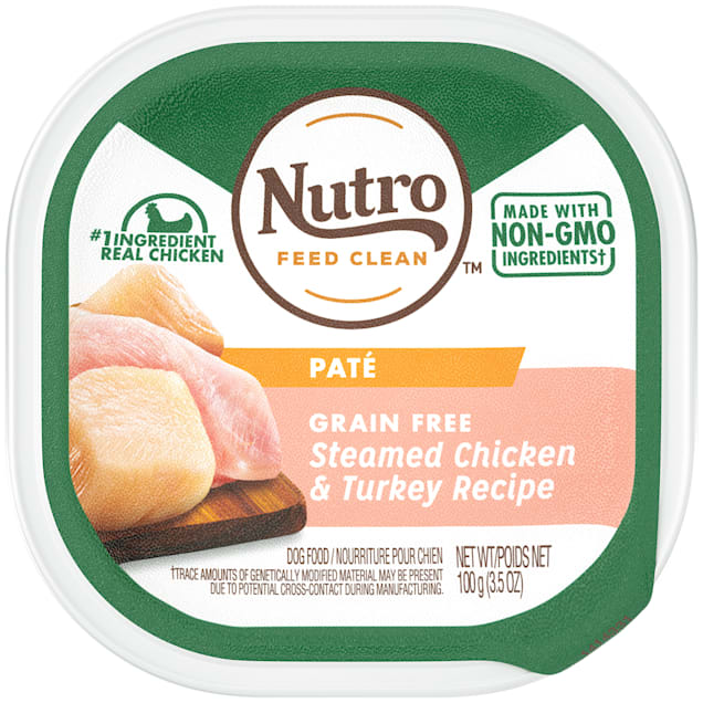 Nutro Grain Free Pate Steamed Chicken & Turkey Recipe Wet Dog Food, 3.5 oz., Case of 24 - Carousel image #1