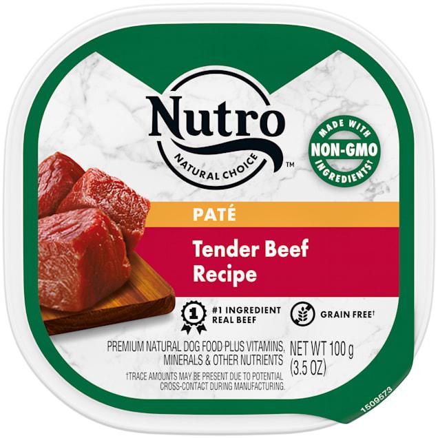 Nutro Grain Free Pate Tender Beef Recipe Wet Dog Food, 3.5 oz., Case of 24 - Carousel image #1