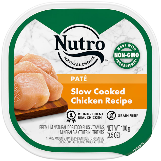 Nutro Grain Free Pate Slow Cooked Chicken Recipe Wet Dog Food, 3.5 oz. - Carousel image #1