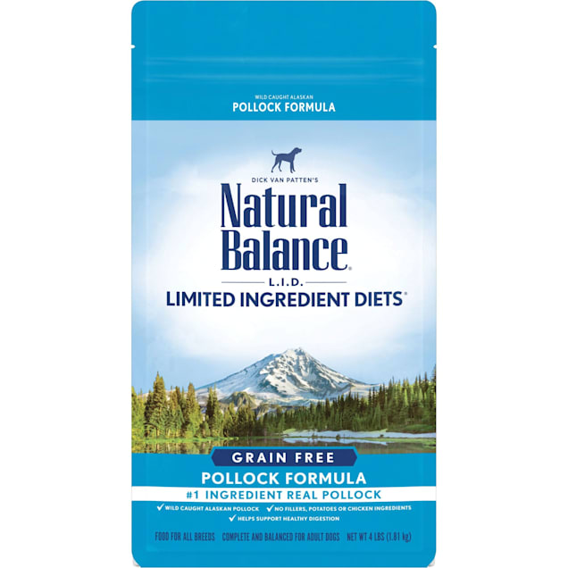 Natural Balance Limited Ingredient Diets High Protein Grain Free Pollock Formula Dry Dog Food, 4 lbs. - Carousel image #1