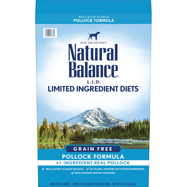 Natural Balance Limited Ingredient Diets High Protein Grain Free Pollock Formula Dry Dog Food, 24 lbs. - Carousel image #1