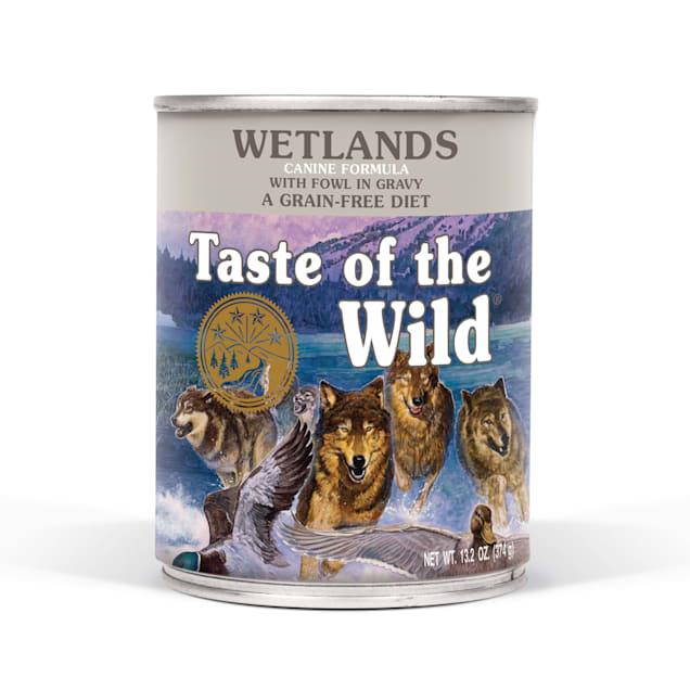 Taste of the Wild Wetlands Grain Free Roasted Duck Stew Dog Food, 13.2 oz., Case of 12 - Carousel image #1