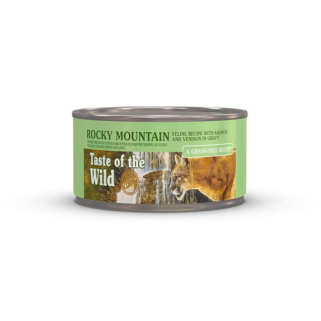 Taste of the Wild Rocky Mountain Grain-Free Roasted Venison & Smoked Salmon Stew Cat Food, 5.5 oz., Case of 24 - Carousel image #1