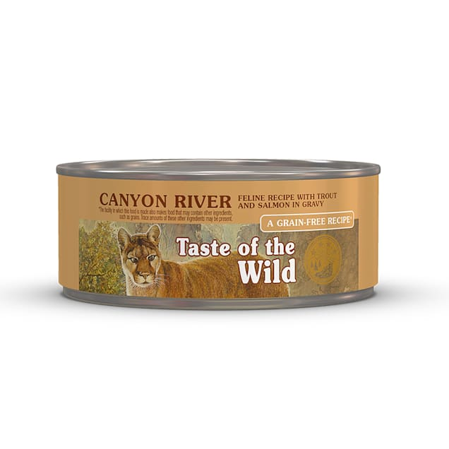 Taste of the Wild Canyon River Grain-Free Trout & Smoked Salmon Stew Cat Food, 5.5 oz., Case of 24 - Carousel image #1