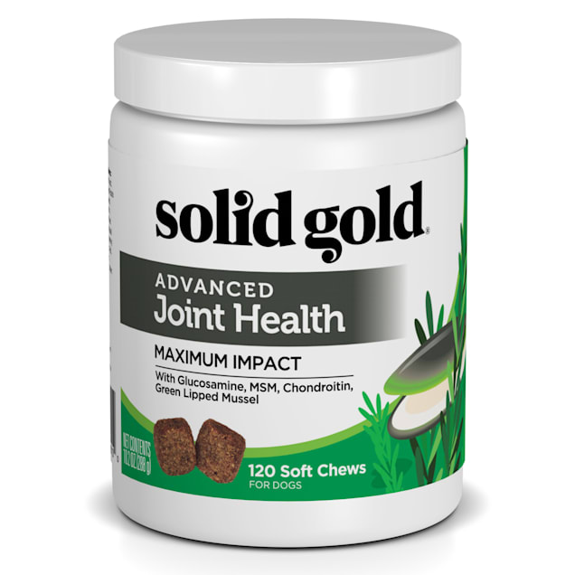 Solid Gold Advanced Joint Health Supplement for Dogs With Green Lipped Mussel, Glucosamine, MSM, Chondroitin, 10.15 oz. - Carousel image #1