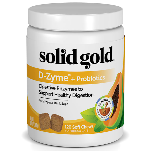 Solid Gold D-Zyme + Probiotics Supplement for Healthy Digestion With Digestive Enzymes & Probiotics for Dogs, 9.3 oz. - Carousel image #1