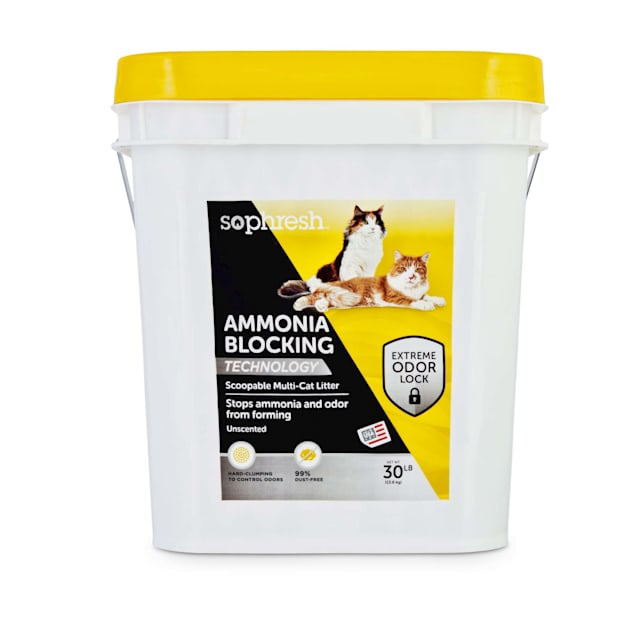 So Phresh Ammonia Blocking Scoopable Multi-Cat Litter, 30 lbs. - Carousel image #1