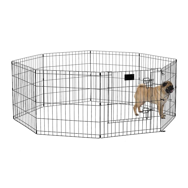 "Midwest Black E-Coat Exercise Pen w/Door for Dogs, 24""H - Carousel image #1"
