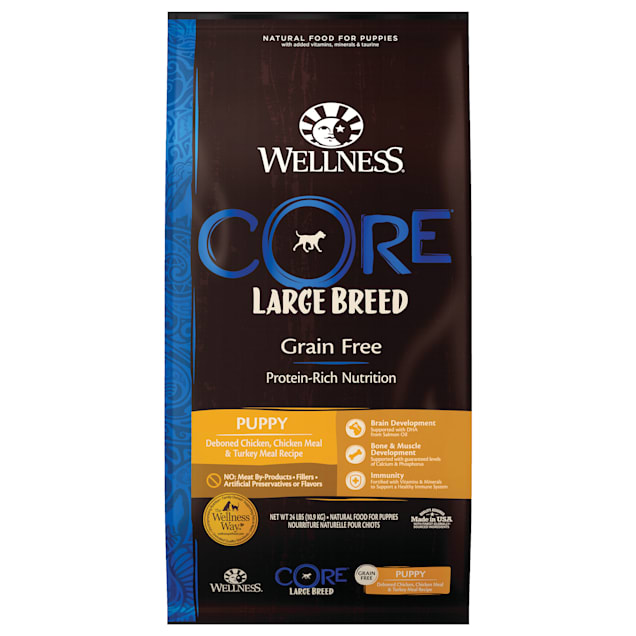 Wellness CORE Natural Grain Free Large Breed Dry Puppy Food, 24 lbs. - Carousel image #1