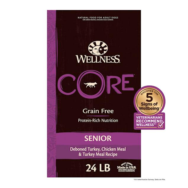 Wellness CORE Natural Grain Free Senior Dry Dog Food, 24 lbs. - Carousel image #1