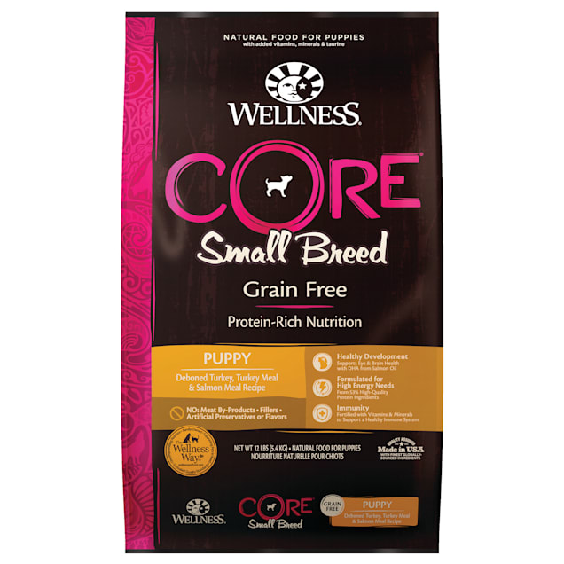 Wellness CORE Natural Grain Free Small Breed Dry Puppy Food, 12 lbs. - Carousel image #1