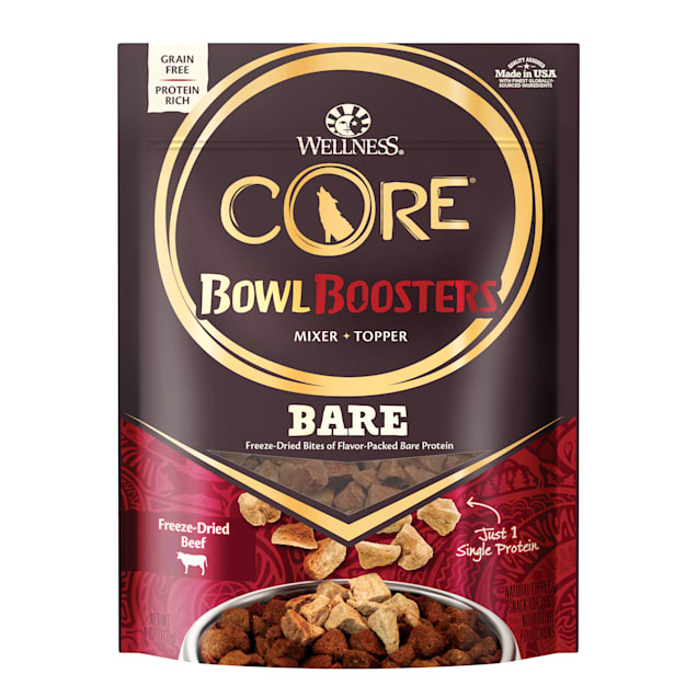 Wellness CORE Natural Bowl Boosters Bare Mixer or Topper Freeze Dried Beef Dry Dog Food, 4 oz. - Carousel image #1