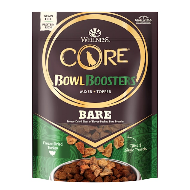 Wellness CORE Natural Bowl Boosters Bare Mixer or Topper Freeze Dried Turkey Dry Dog Food, 4 oz. - Carousel image #1