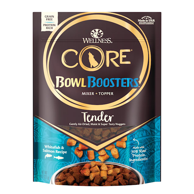 Wellness CORE Natural Bowl Boosters Tender Mixer or Topper Whitefish & Salmon Recipe Dry Dog Food, 8 oz. - Carousel image #1