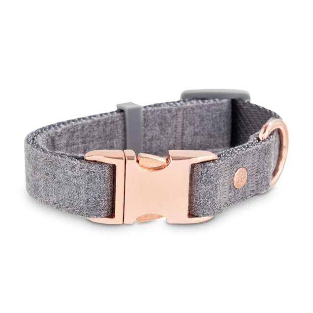 Bond & Co. Regal Rose Gold and Grey Dog Collar, Small - Carousel image #1