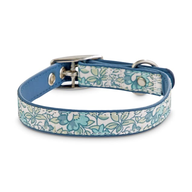 Bond & Co. Baby Blue Blossom Dog Collar, X-Small/Small - Carousel image #1