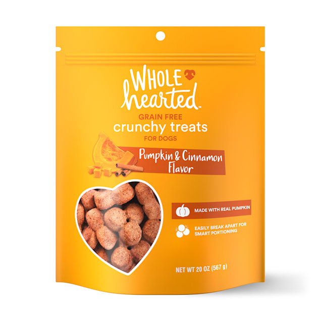 WholeHearted Grain Free Pumpkin Biscuit Dog Treats, 20 oz. - Carousel image #1