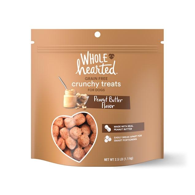 WholeHearted Grain Free Peanut Butter Dog Treats, 40 oz. - Carousel image #1