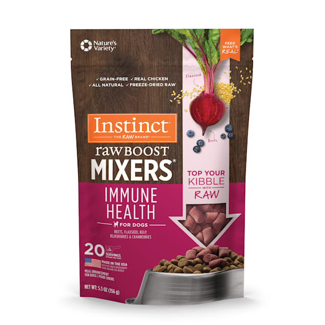 Instinct Freeze-Dried Raw Boost Mixers Grain-Free Immune Health Recipe Dog Food Topper, 5.5 oz. - Carousel image #1