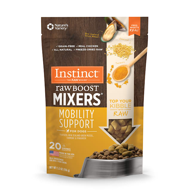 Instinct Freeze-Dried Raw Boost Mixers Grain-Free Mobility Support Recipe Dog Food Topper, 5.5 oz. - Carousel image #1