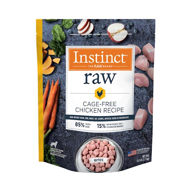 Instinct Frozen Raw Bites Grain-Free Cage-Free Chicken Recipe Dog Food, 6 lbs. - Carousel image #1