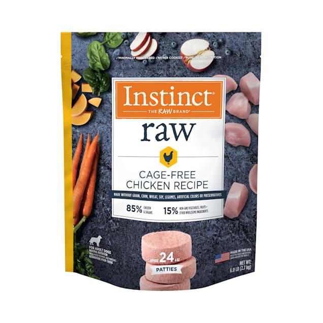 Instinct Frozen Raw Patties Grain-Free Cage-Free Chicken Recipe Dog Food, 6 lbs. - Carousel image #1