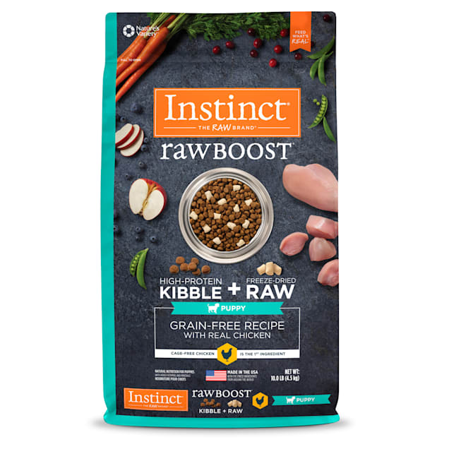 Instinct Raw Boost Puppy Grain-Free Recipe with Real Chicken Dry Food with Freeze-Dried Raw Pieces, 10 lbs. - Carousel image #1