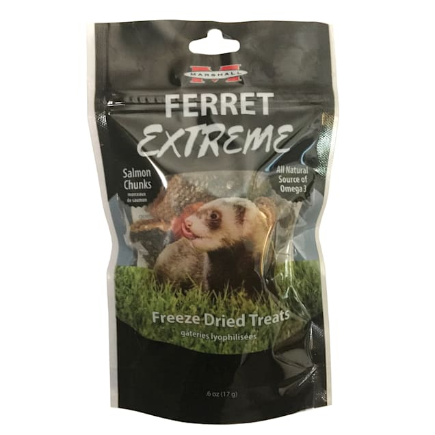 Marshall Ferret Extreme Freeze Dried Salmon Chunks Flavored Treats, 0.6 oz. - Carousel image #1