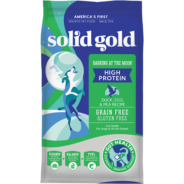 Solid Gold Grain-Free Barking at the Moon with Duck, Egg & Pea Recipe Dry Dog Food, 22 lbs. - Carousel image #1