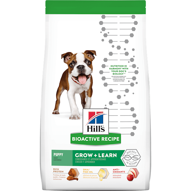 Hill's Bioactive Recipe Grow + Learn Chicken & Brown Rice Puppy Dry Food, 11 lbs. - Carousel image #1