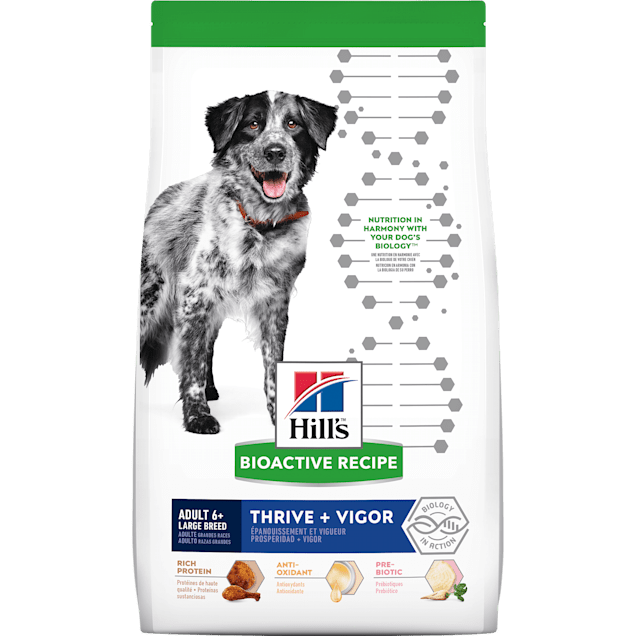 Hill's Bioactive Recipe Thrive + Vigor Chicken & Brown Rice Large Breed Adult Dry Dog Food, 22.5 lbs. - Carousel image #1