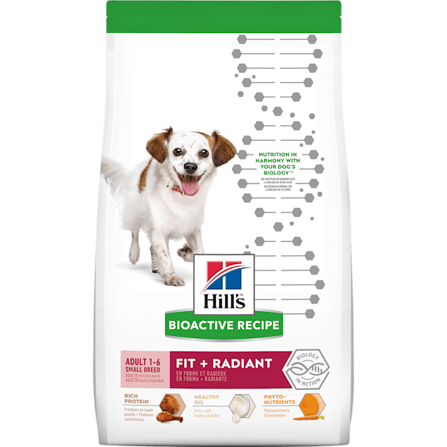 Hill's Bioactive Recipe Fit + Radiant Chicken & Barley Adult Small Breed Dry Dog Food, 11 lbs. - Carousel image #1