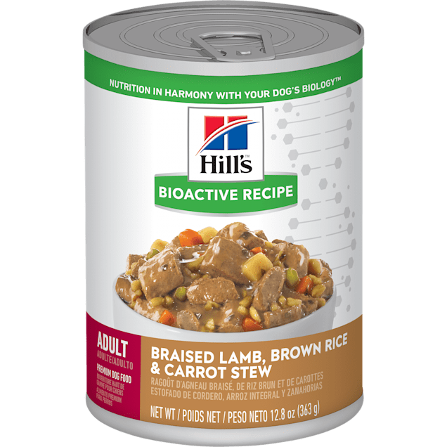 Hill's Bioactive Recipe Lamb & Vegetables Adult Dog Wet Food Stew, 12.8 oz., Case of 12 - Carousel image #1