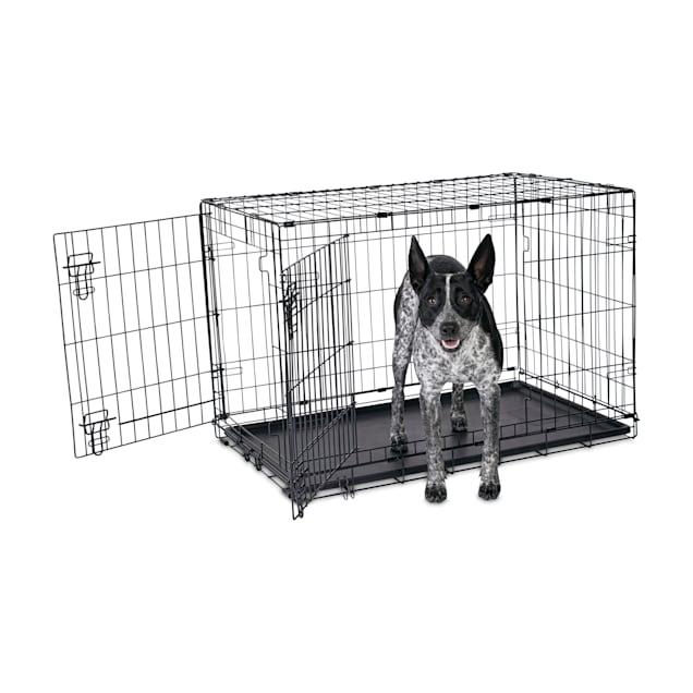 "Animaze 2-Door Folding Dog Crate, 36.5"" L x 23.5"" W x 24.7"" H - Carousel image #1"