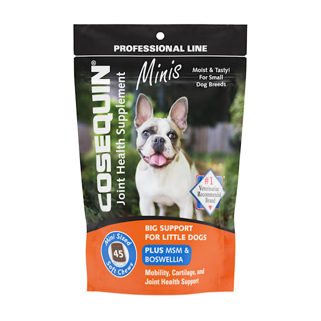 Cosequin Minis Plus MSM & Boswellia Dog Joint Health Supplement for Dogs, 0.22 lb., Count of 45 - Carousel image #1